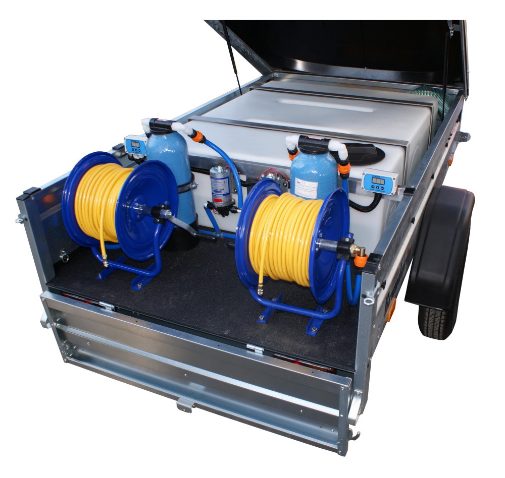 Trailer System with 2 pumps 600GPD + 2 hose reels