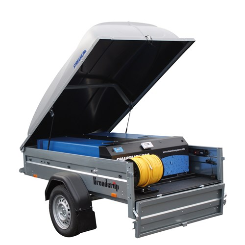 Streamline®-Trailer-System--complete-with-Smartank®400-2--2x-6mm-100mtr-hose-and-reel--battery--battery-charger