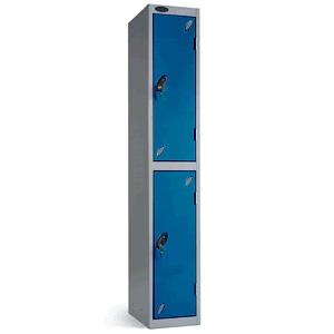 2 Door Locker 1780x305x305mm - Blue Doors (2keys)
