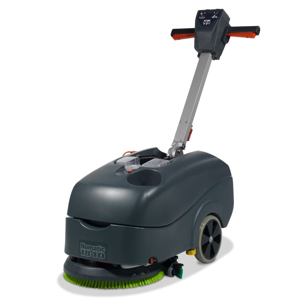 Numatic TTB1840 battery scrubber dryer with 2 batteries