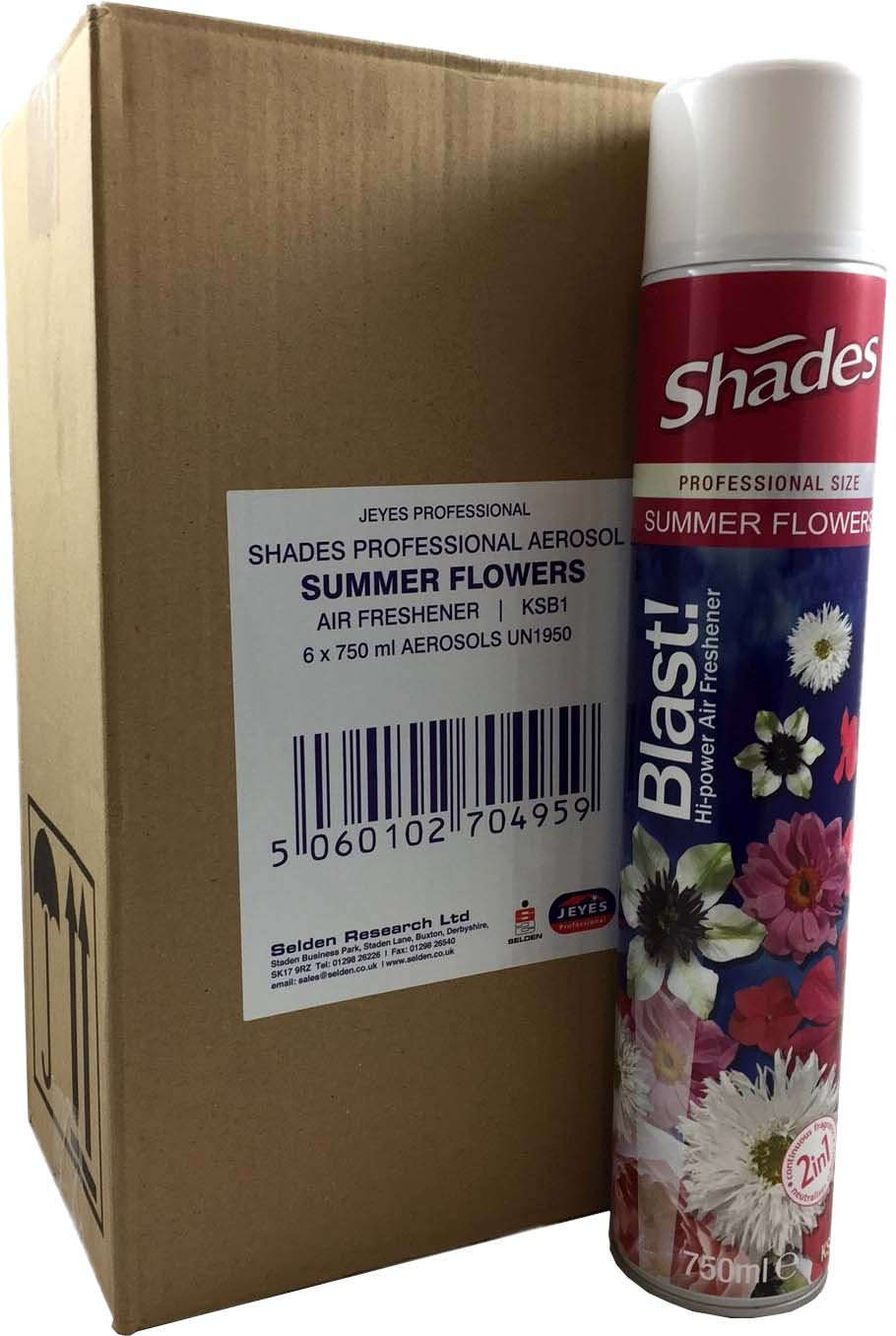 Blast! Hi Power Air Freshener 6x750ml SUMMER FLOWERS