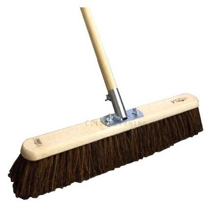 24-inch Stiff Bassine Platform Broom (Head/Handle/Socket)