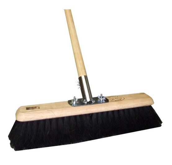 36-inch Platform Broom Black Coco COMPLETE (Head/Handle/Socket)