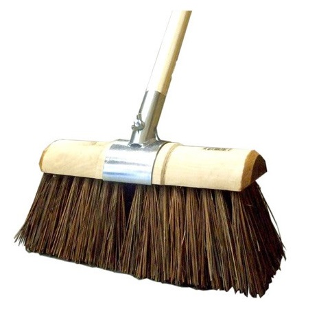 13-inch Sherbo Scavenger Yard Broom COMPLETE (head/handle/socket)