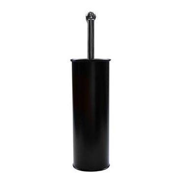 Modern-Toilet-Brush---Holder-Black