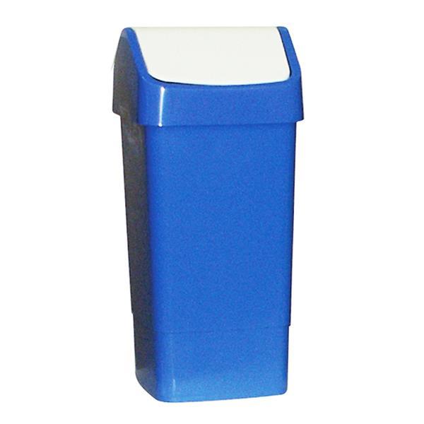 'Lucy' Blue Plastic Swing Bin 50 litre