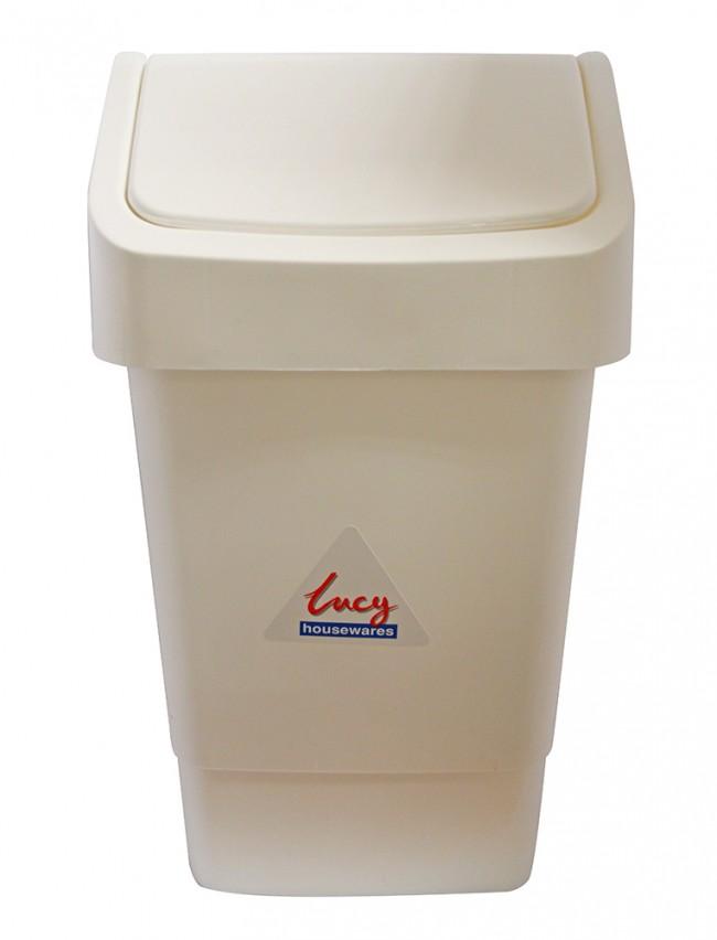 'Lucy' White Plastic Swing Bin 9 litre