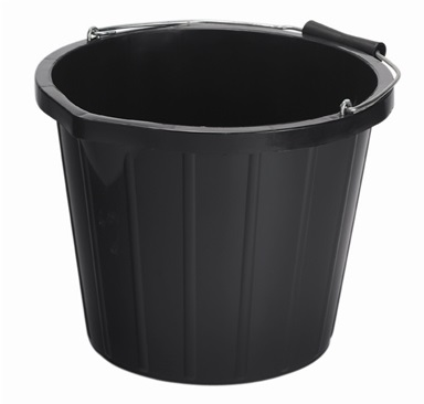 Black Large Builder's Bucket (14litre)