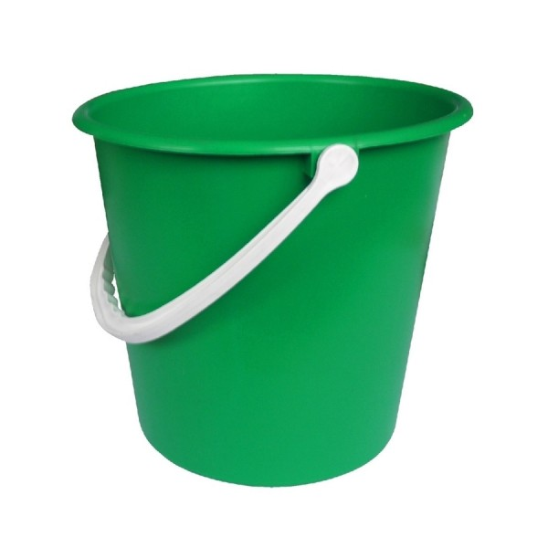 Plastic Bucket 10 ltr GREEN