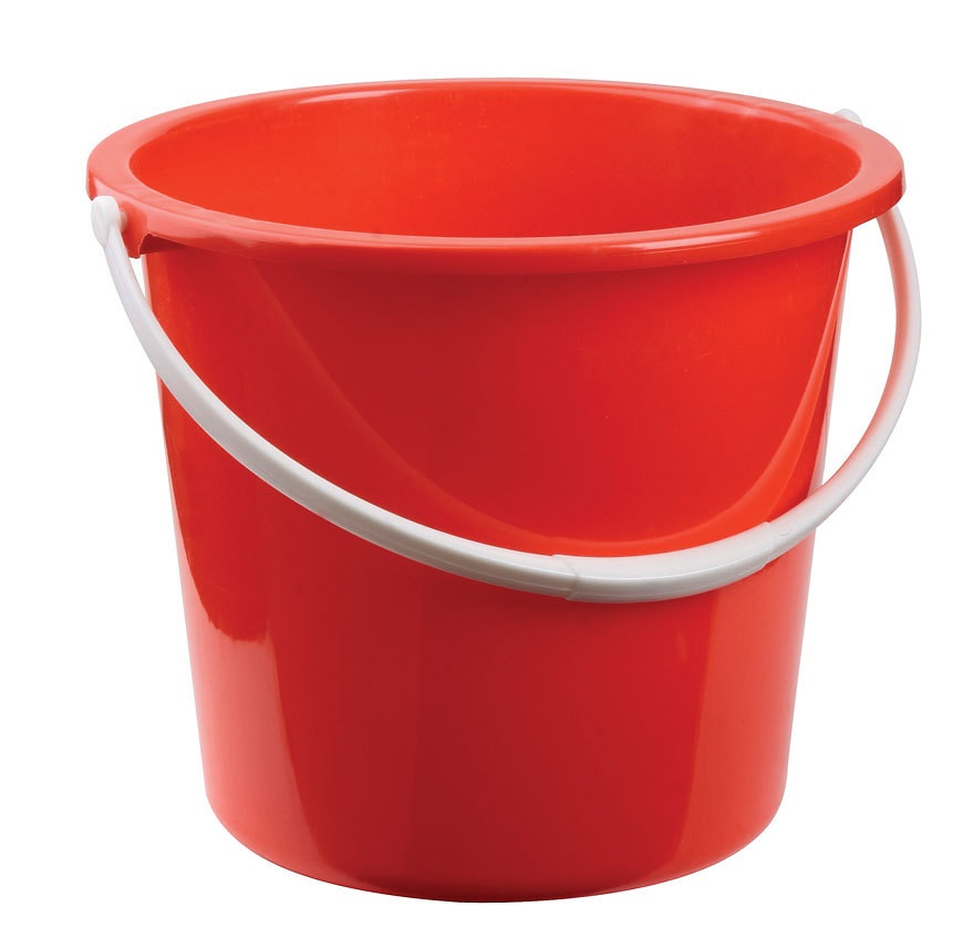 Plastic Bucket 10 LTR RED