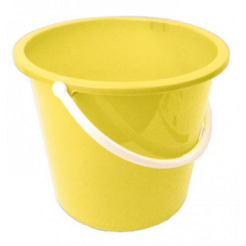 Plastic Bucket 10 ltr YELLOW