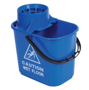 Professional Plastic Bucket & Wringer 15litre - Blue