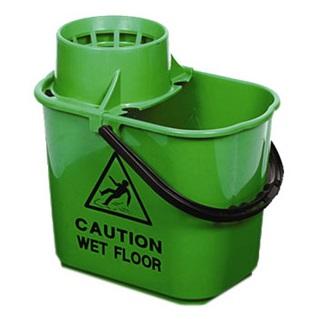 Prof-Plastic-Bucket---Wringer-15litre---Green