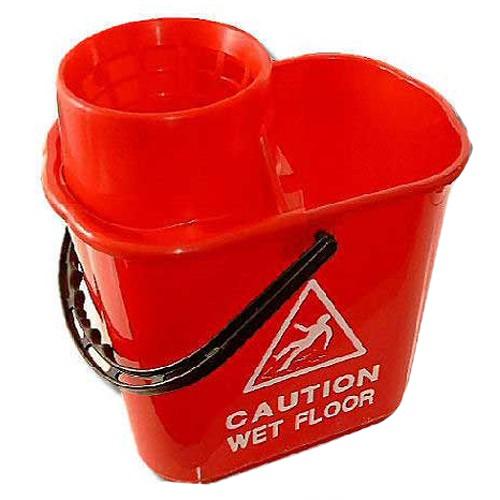 Prof-Plastic-Bucket---Wringer-15litre---Red