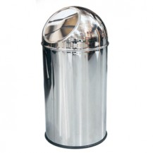 Dolphin--Push--Trash-Can-41cm-x-21cm--10litre---Stainless-Steel