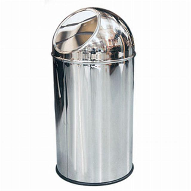 Dolphin--Push--Trash-Can-65cm-x-30cm--35litre---Stainless-Steel