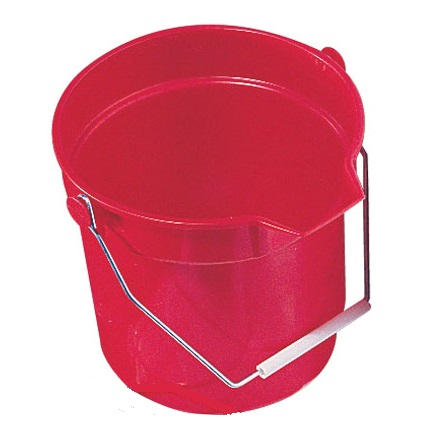 Round Bucket 10ltr with lip RED