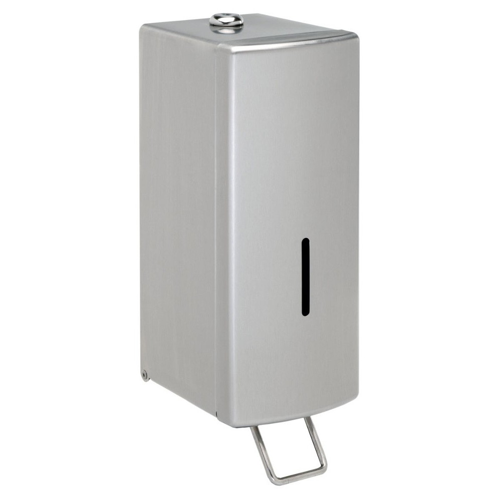 Dolphin Surface-Mounted Soap Dispenser - brushed stainless steel