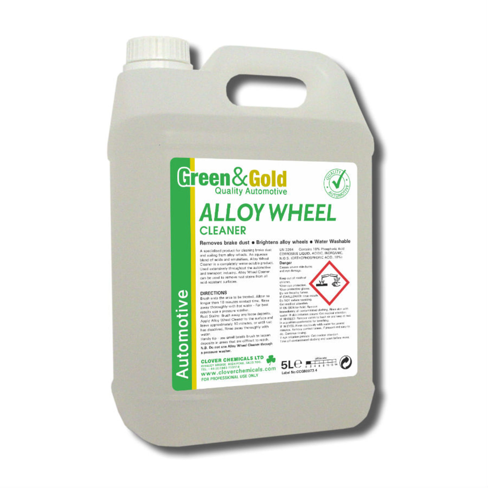 Alloy Wheel Cleaner 5litre (Clover)