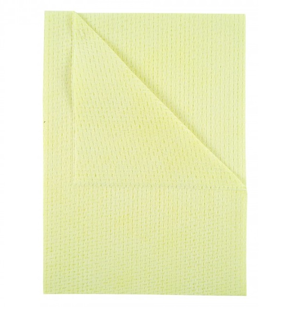 Velette anti-bacterial cloths 25 per pack - YELLOW