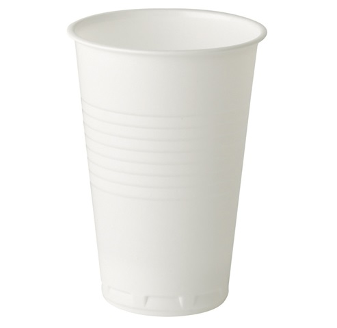 9oz Tall White Plastic Vending Cup - 2000 per case