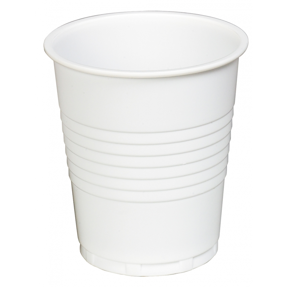 7oz plastic cups SQUAT (pk 2000) White