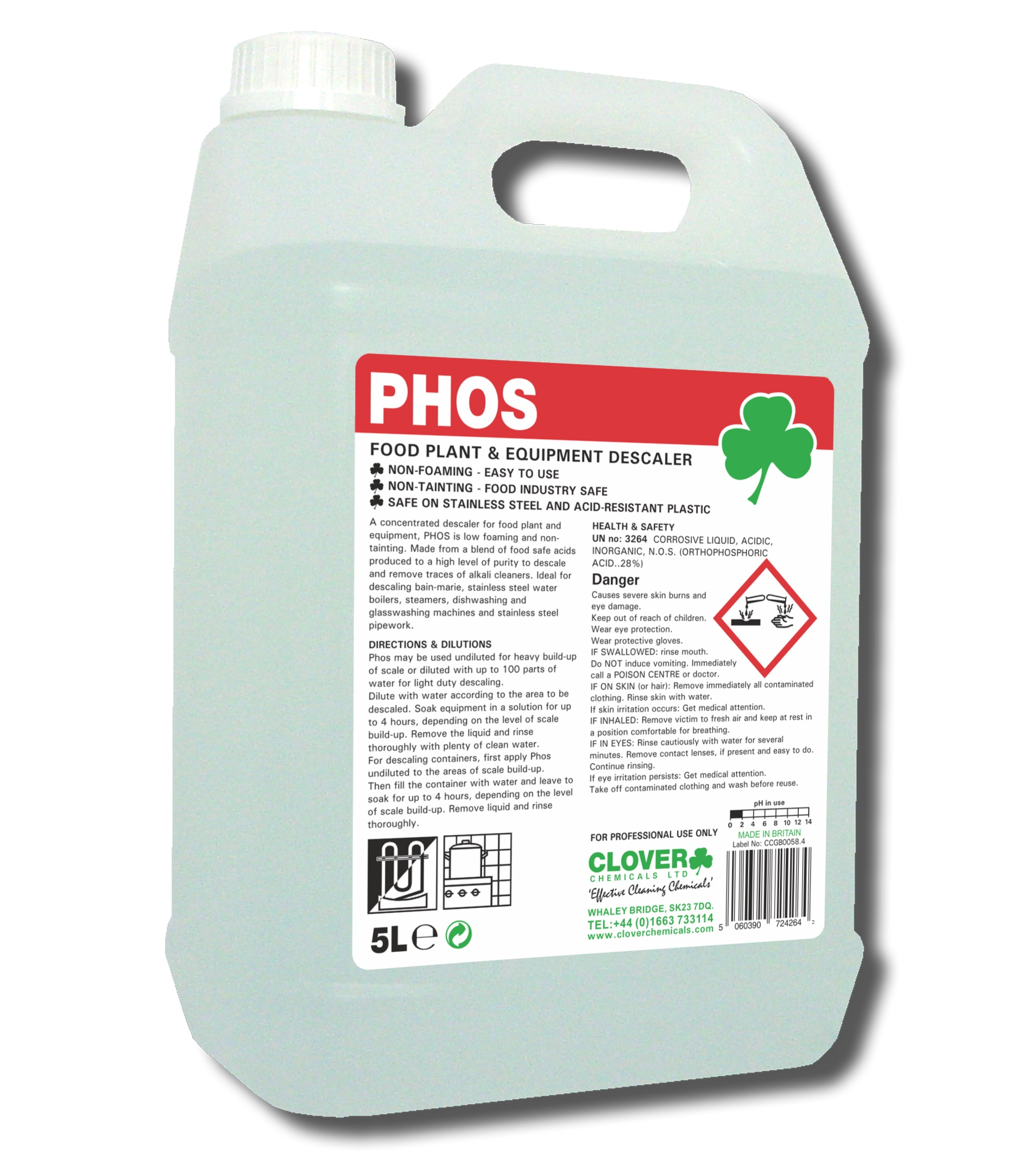 PHOS - Food Plant Descaler 5litre