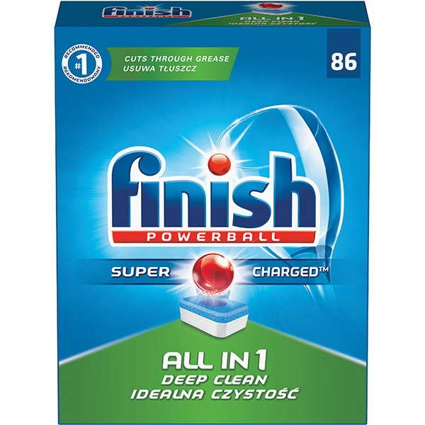 Finish ALL-in-1 Powerball Dishwasher Tablets (box of 86)