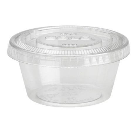 4oz Clear Plastic Pots - 1000 per case