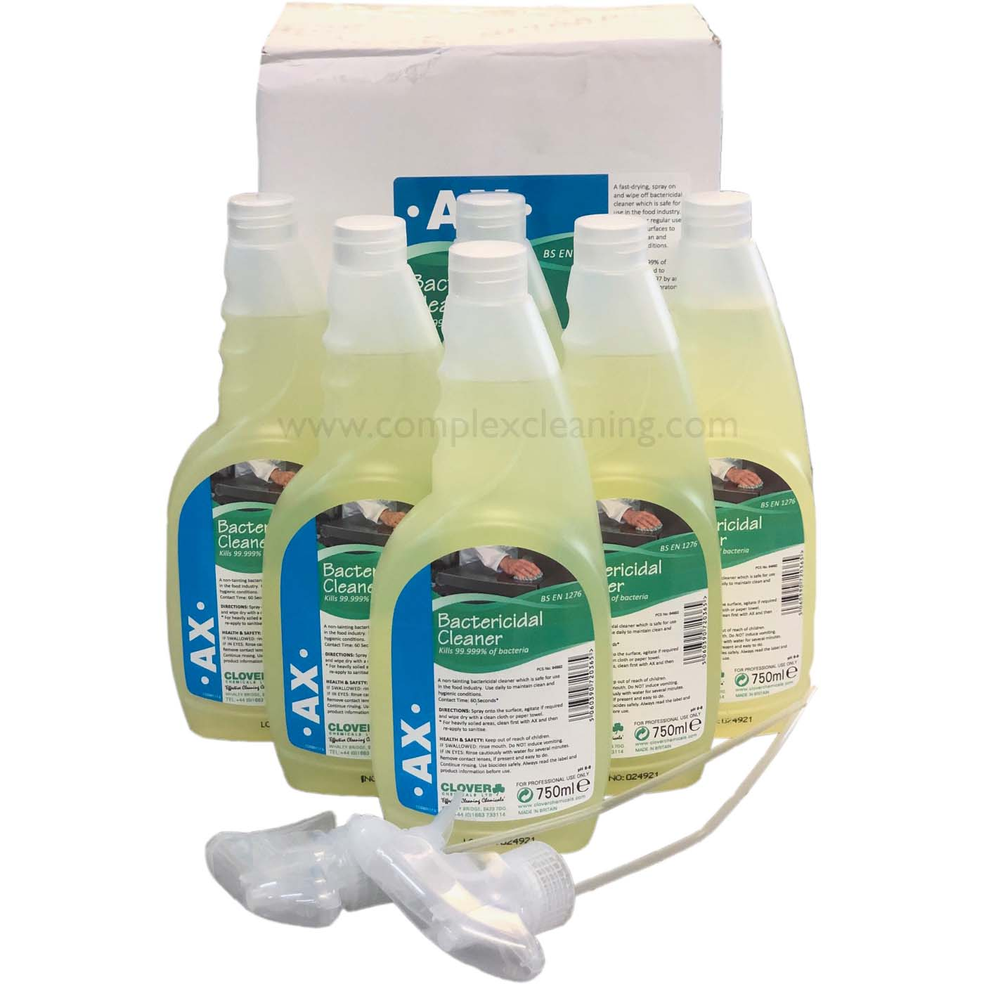 AX - Alcohol Bactericidal Cleaner EN1276 6x750ml