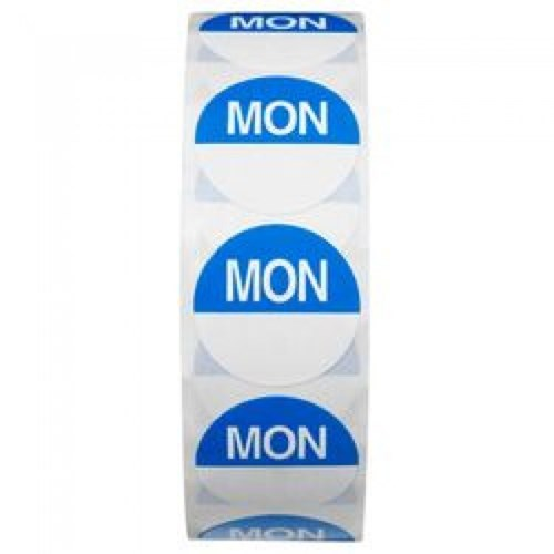 Day Dot 25mm - Monday (Roll Of 1000 Labels)