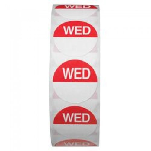 Day Dot 25mm - Wednesday (Roll Of 1000 Labels)
