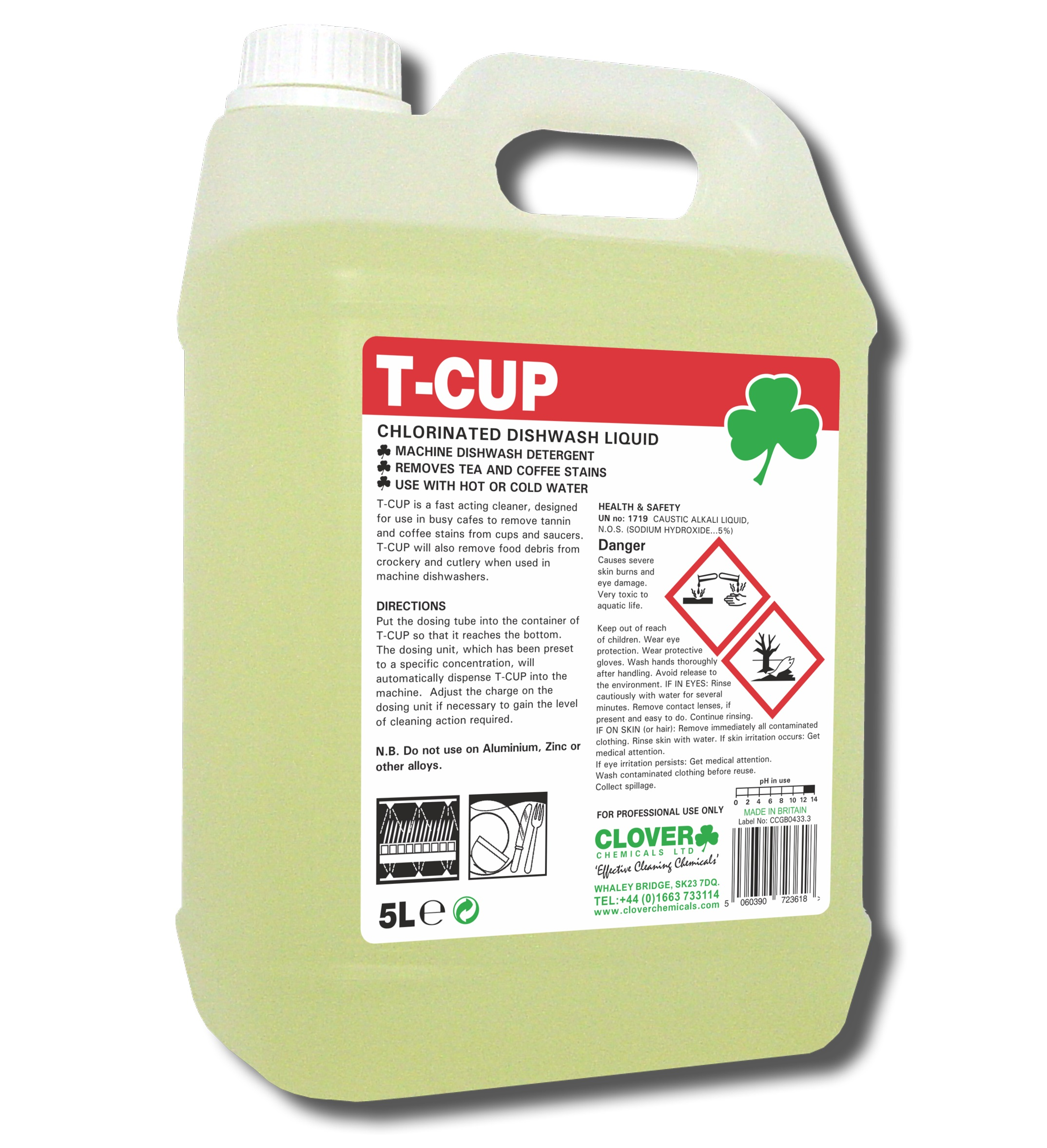 Clover T-cup Chlorinated Liquid 5litre