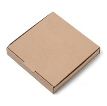 Pizza Box 7-inch Brown with Logo (100)