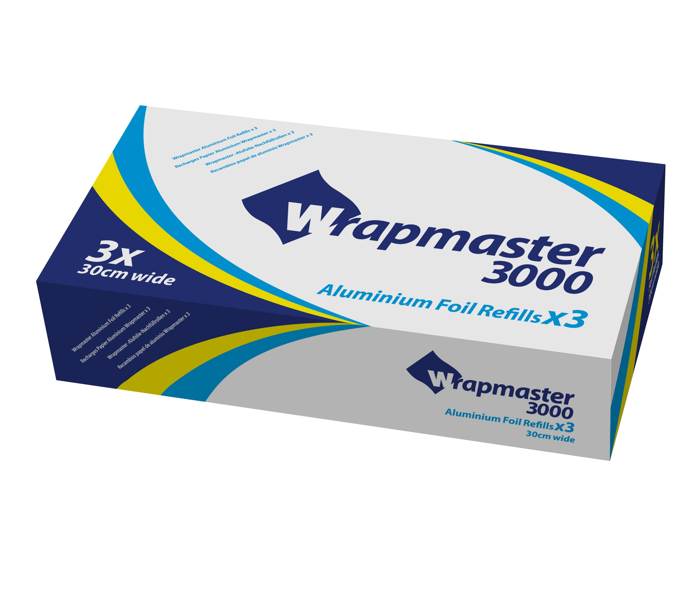 Wrapmaster Foil 30cm x 90m rolls (case of 3)