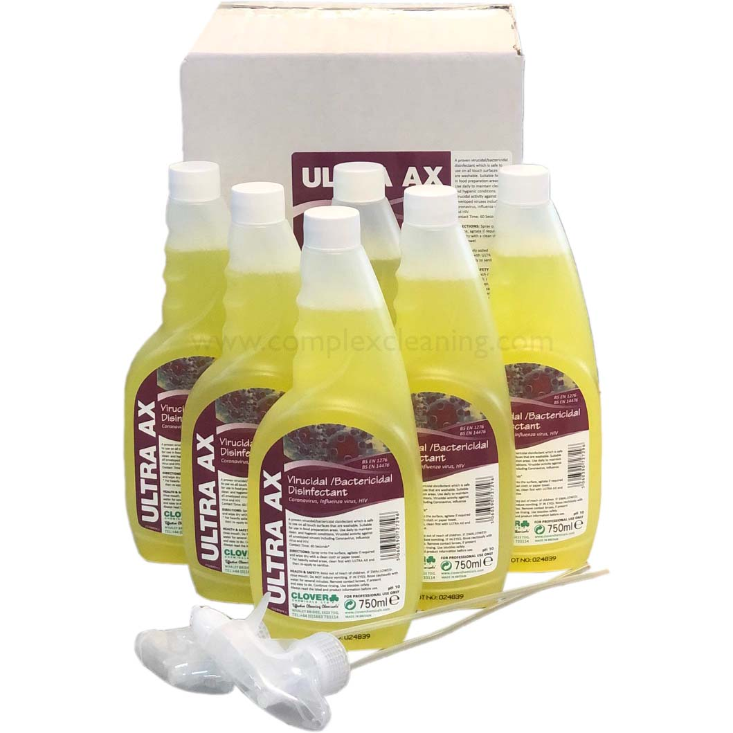 Ultra-AX---Viricidal-Bactericidal-Cleaner-6x750ml--case-with-2-triggers-