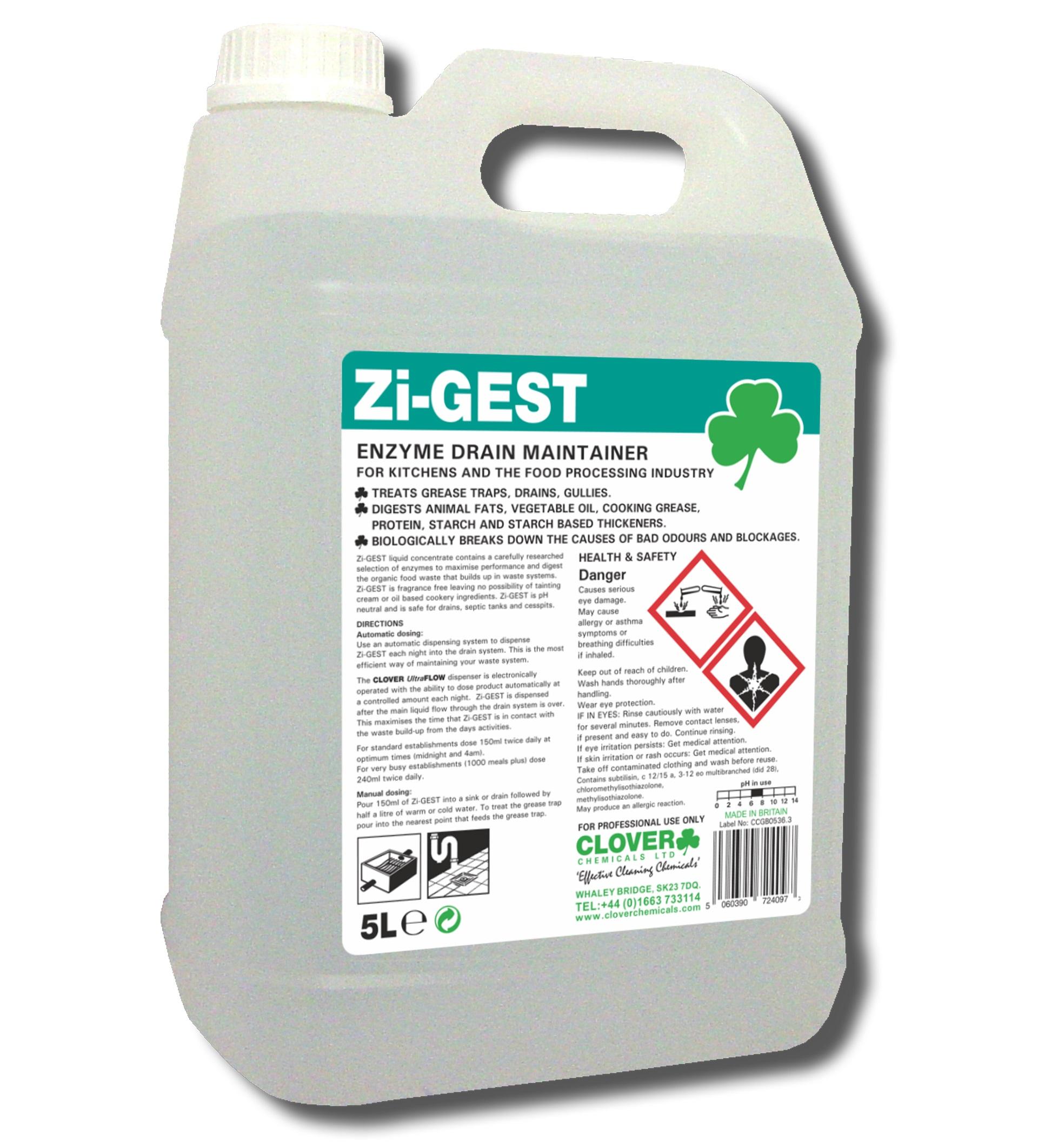 Zi-Gest Enzyme Drain Maintainer 5litre