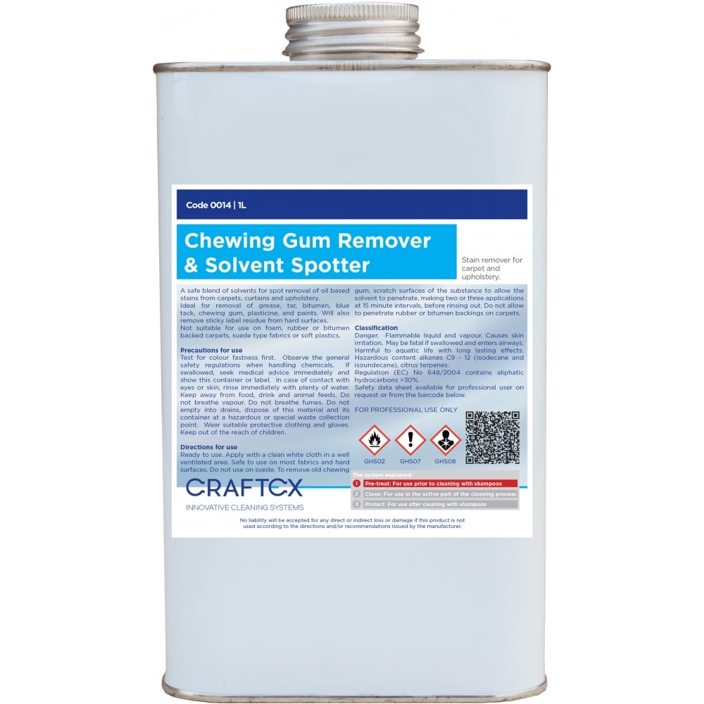 Craftex Chewing Gum Remover and Solvent Spotter 1litre (0014)