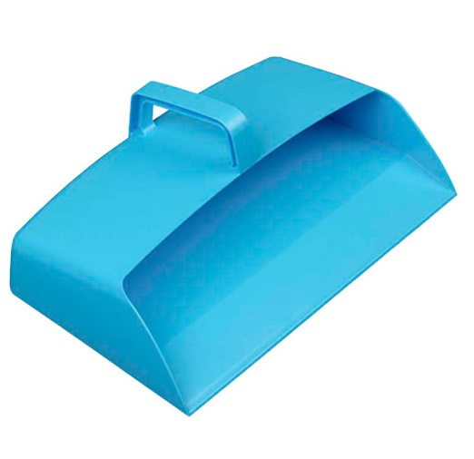 Large Enclosed 12-inch Plastic Dustpan - BLUE