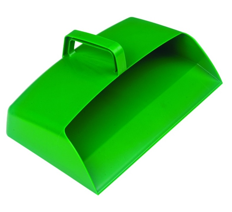 Large-Enclosed-12-inch-Plastic-Dustpan---GREEN