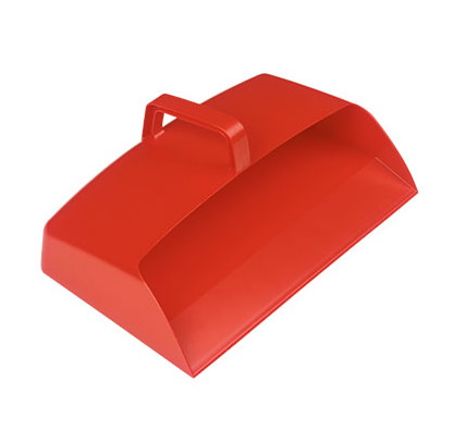 Large Enclosed 12-inch Plastic Dustpan - RED