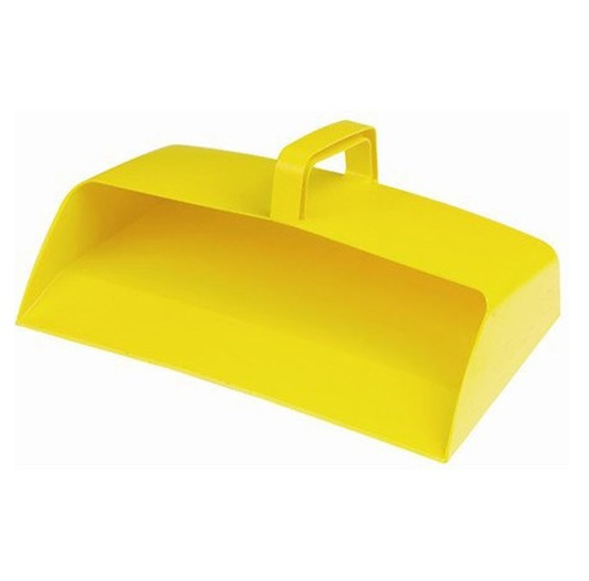 Large-Enclosed-12-inch-Plastic-Dustpan---YELLOW