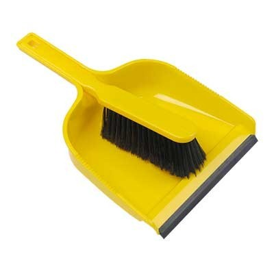 Open-dustpan-and-soft-brush-set---YELLOW