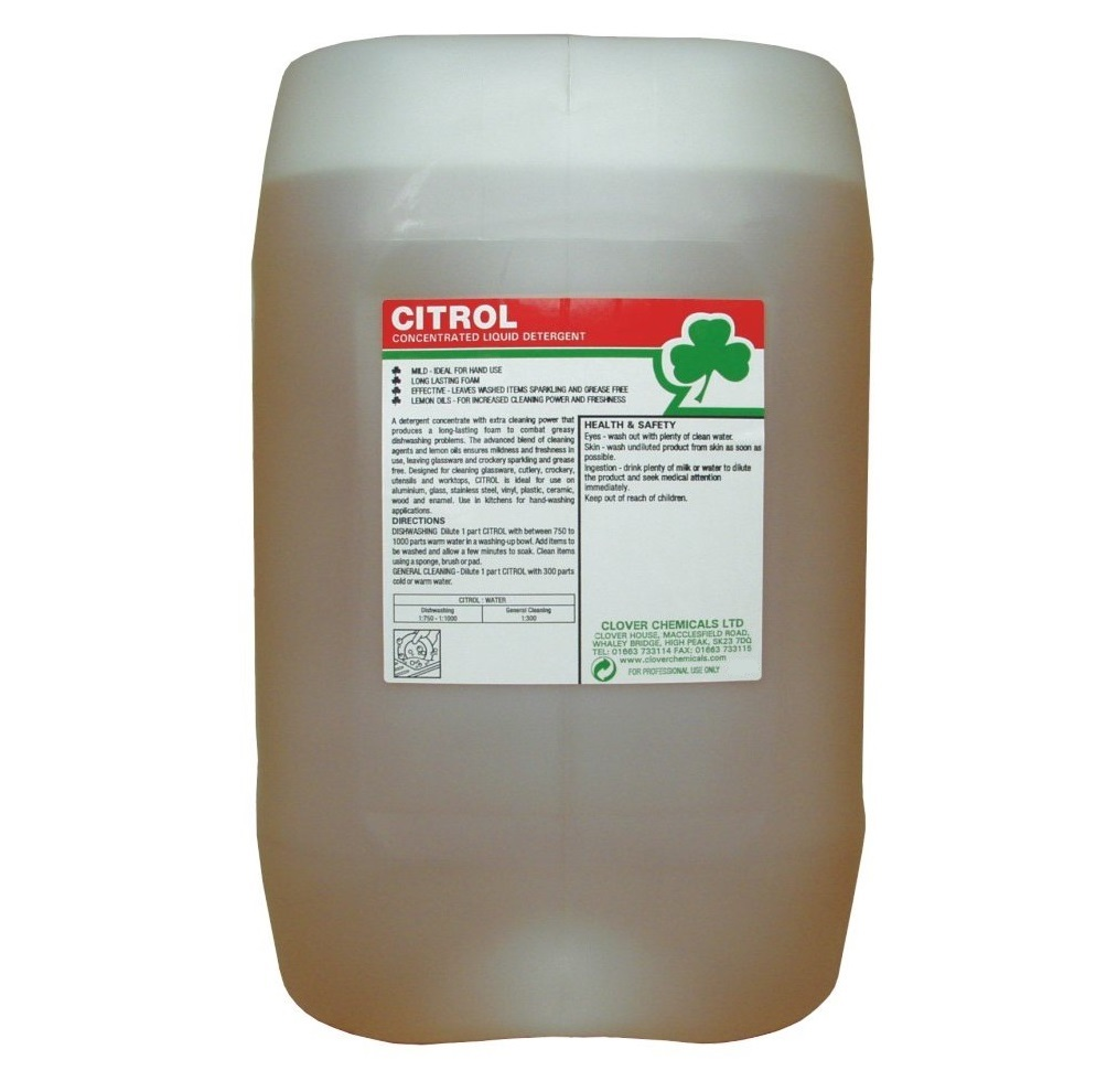 20 litre - CITROL Lemon Wash Up Liquid