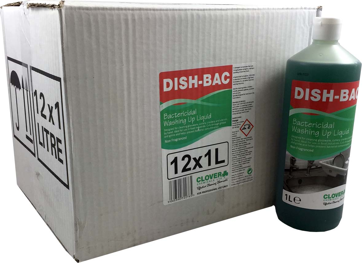 Dish-Bac dishwash liquid 12x1litre (case)