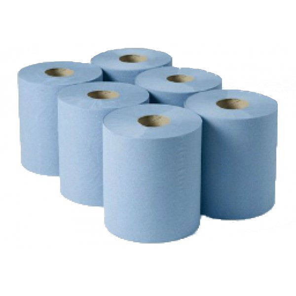 Enigma 1ply Blue Roll Towel 180m x 200mm (6 rolls)