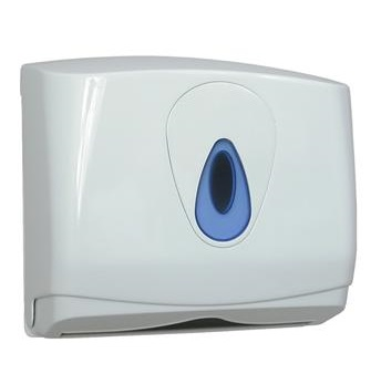 Modular Hand Towel Dispenser SMALL White Plastic