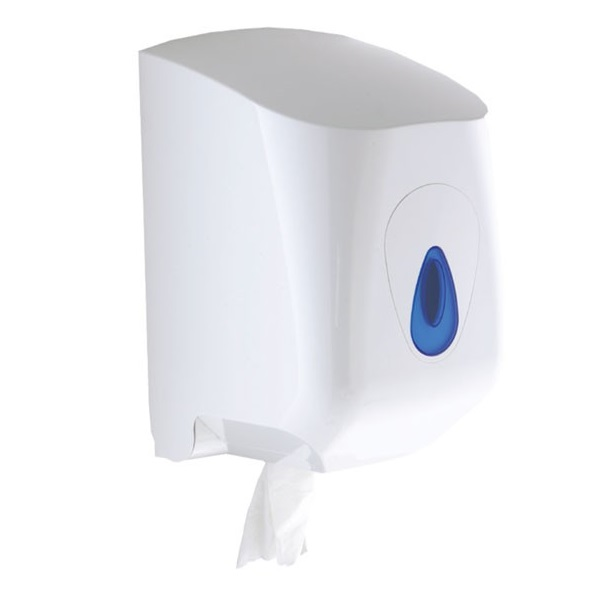 Modular-LARGE-Centrepull-Dispenser---White-Plastic