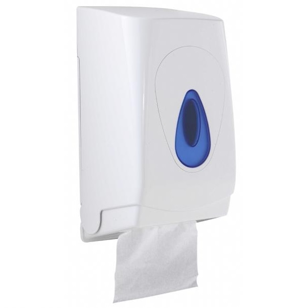 Modular Multi-Flat Tissue Dispenser - Plastic White/Blue