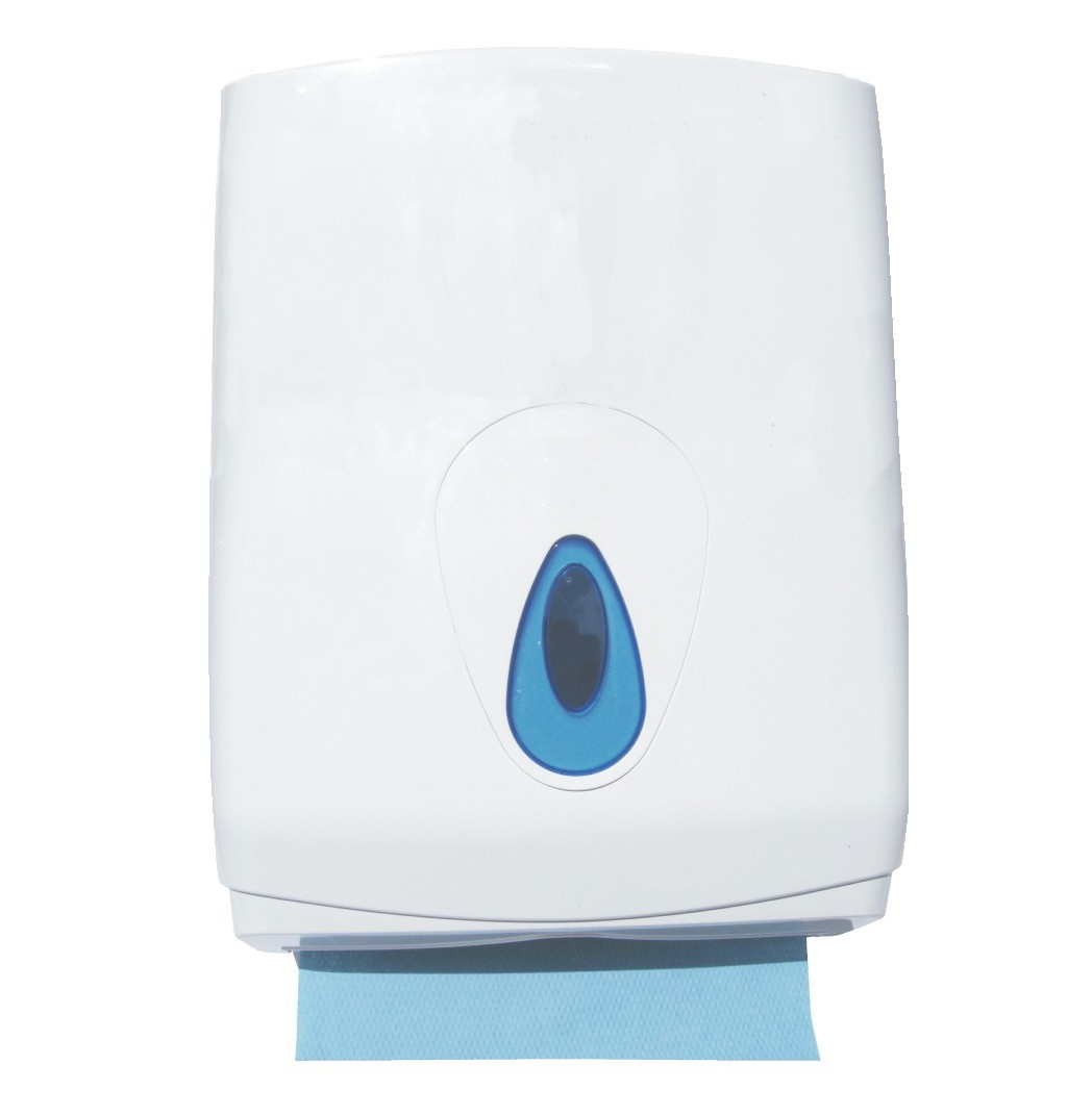 Modular LARGE Hand Towel Dispenser - White Plastic